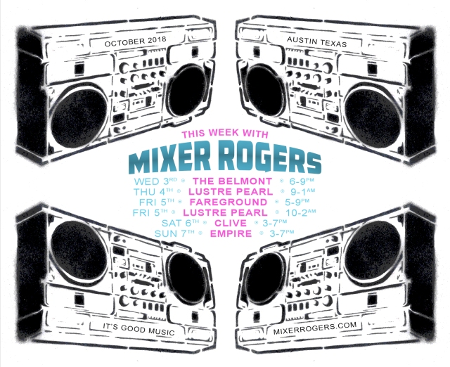 MIXER ROGERS OCTOBER WEEK 1